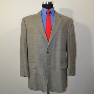 Jos A Bank 46R Sport Coat Blazer Suit Jacket Gray